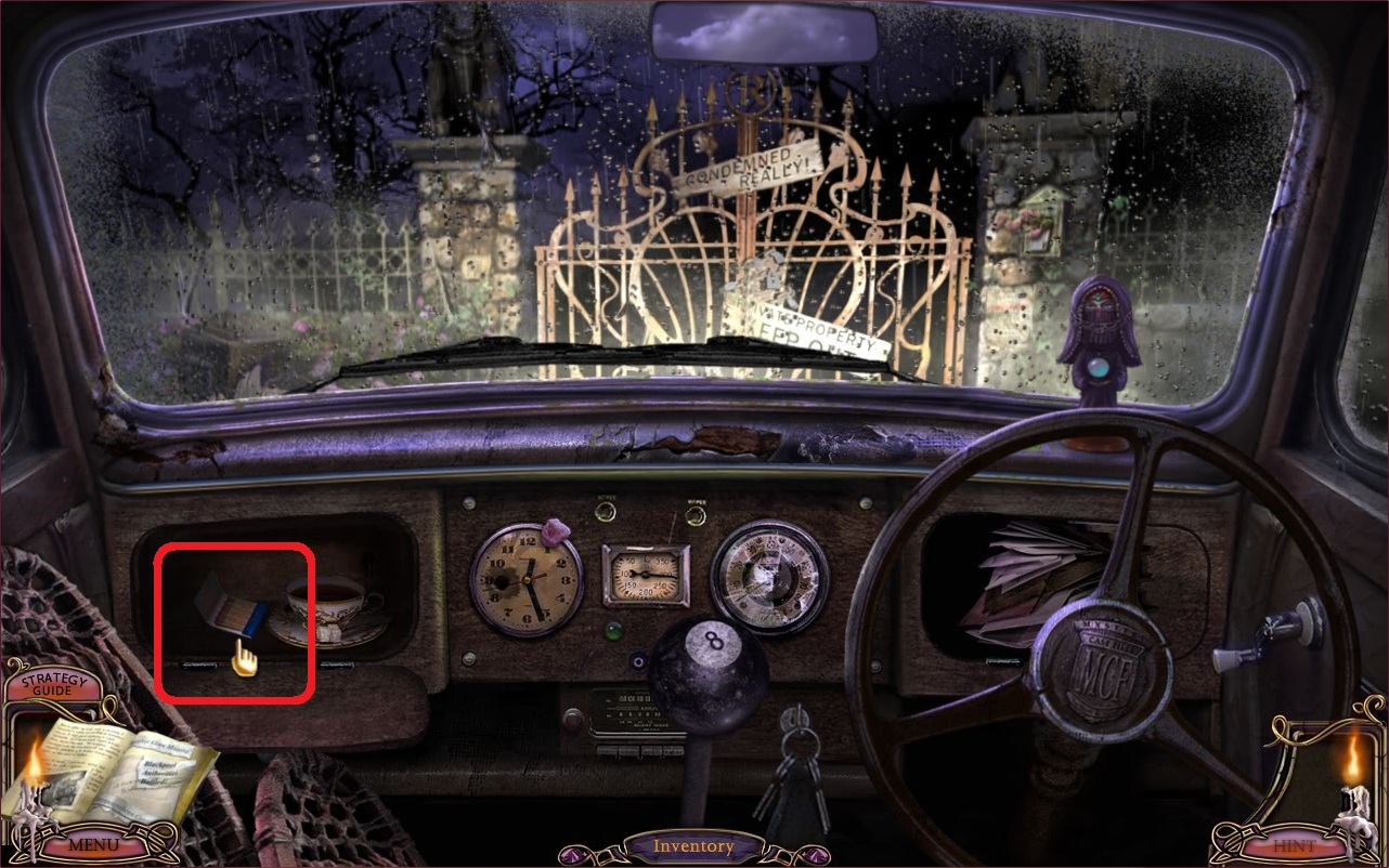 Mcf 8 Escape From Ravenhearst Ce Walkthrough At Car Broken Into Fuse Box Open Click The Right Side Of Screen To Exit
